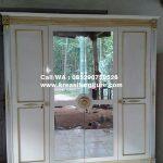 Lemari Pakaian 4 Pintu Cermin Duco Putih