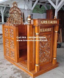 Mimbar Masjid Jepara Model Terbaru