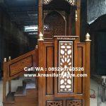 Mimbar Masjid Agung Kayu jati Darussalam