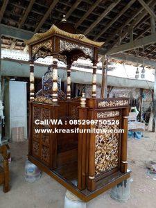 Mimbar Masjid Kubah Ukir Jati Al Aziz