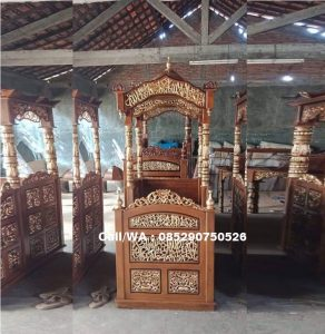 Mimbar Masjid Kubah Kaligrafi Mewah