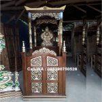 Mimbar Masjid Kubah Ukir Kaligrafi
