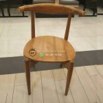 Kursi Cafe Jati Custom Sandaran Tanduk