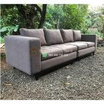 Sofa 4 Seater Jok Fabric Mewah