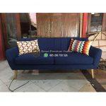 Sofa Retro 2 Seater Fabric Jok